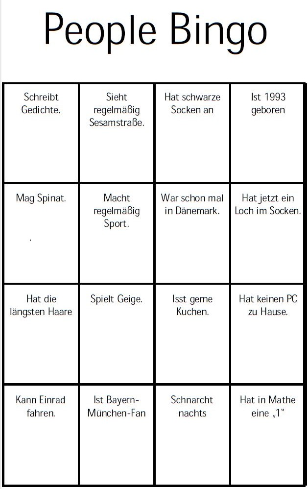 people bingo cj lernen