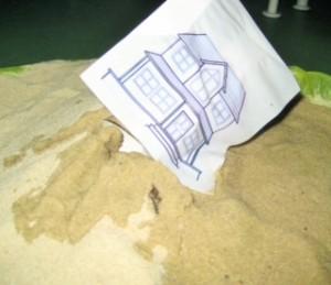 Haus auf Sand